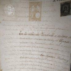 Manuscrits anciens: DOCUMENTO JUDICIAL MANUSCRITO AÑO 1876 SIGLO XIX SEDICIÓN CARLISTAS SELLO FISCAL 8 FABRICA DEL SELLO. Lote 216456987