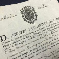 Manuscritos antiguos: 1782. VILLA DE TOCINA. PAGO DE PROPIOS Y ARBITRIOS DE 1781. FIRMA DEL TESORERO DEL EJERCITO ANDALUCI. Lote 216472940