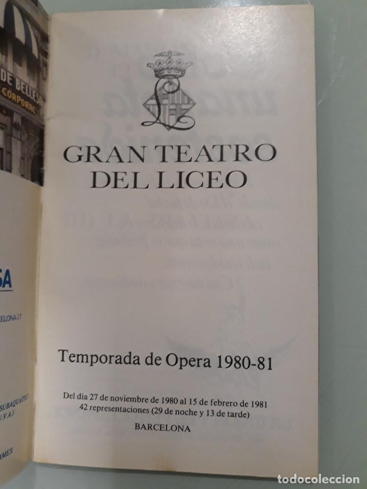 Manuscritos antiguos: PROGRAMA OPERA CON FIRMA ORIGINAL DE MARIANA NICOLESCO - Foto 2 - 216780906
