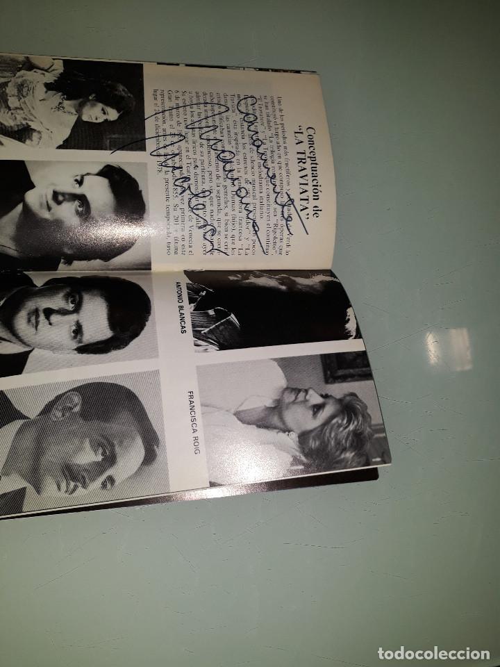 Manuscritos antiguos: PROGRAMA OPERA CON FIRMA ORIGINAL DE MARIANA NICOLESCO - Foto 3 - 216780906