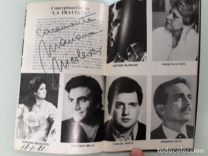 Manuscritos antiguos: PROGRAMA OPERA CON FIRMA ORIGINAL DE MARIANA NICOLESCO - Foto 4 - 216780906