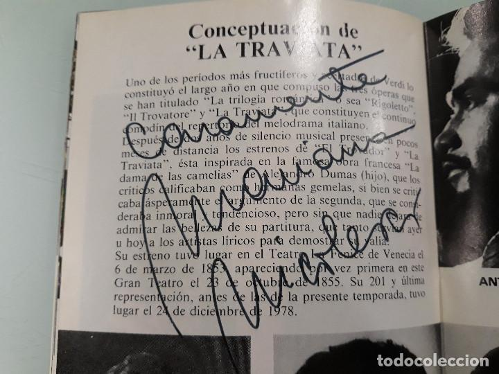 Manuscritos antiguos: PROGRAMA OPERA CON FIRMA ORIGINAL DE MARIANA NICOLESCO - Foto 5 - 216780906