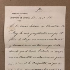 Manuscritos antiguos: MANUSCRITO DEL AÑO 1924 DE LA SECRETARÍA DE CÁMARA DEL OBISPADO DE VITORIA.. Lote 216796627