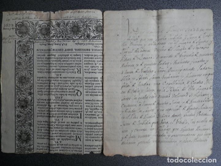 MANUSCRITO AÑO 1523 SANTED BURBAGUENA, ZARAGOZA, INSTITUCIÓN CAPELLANÍA DE LOS EMBIDIAS 15 PÁGS. (Coleccionismo - Documentos - Manuscritos)