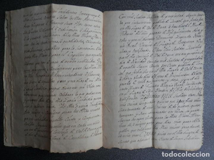 Manuscritos antiguos: MANUSCRITO AÑO 1523 SANTED BURBAGUENA, ZARAGOZA, INSTITUCIÓN CAPELLANÍA DE LOS EMBIDIAS 15 PÁGS. - Foto 2 - 216954140