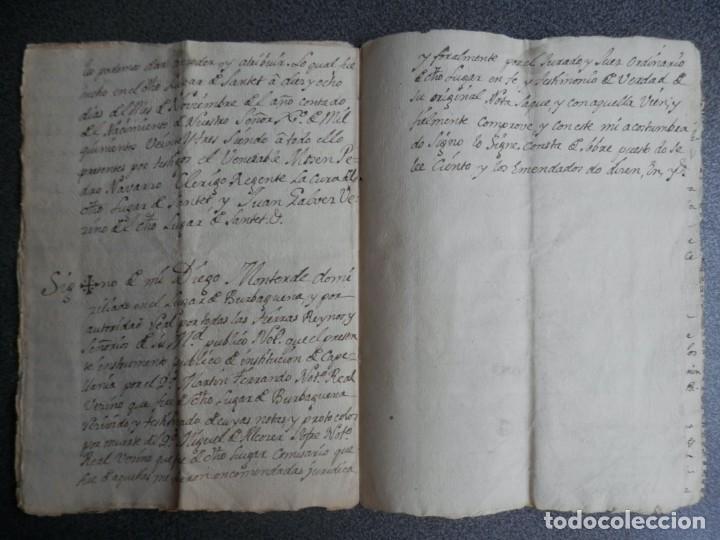 Manuscritos antiguos: MANUSCRITO AÑO 1523 SANTED BURBAGUENA, ZARAGOZA, INSTITUCIÓN CAPELLANÍA DE LOS EMBIDIAS 15 PÁGS. - Foto 3 - 216954140