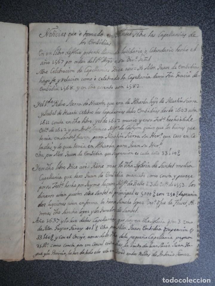 Manuscritos antiguos: MANUSCRITO AÑO 1523 SANTED BURBAGUENA, ZARAGOZA, INSTITUCIÓN CAPELLANÍA DE LOS EMBIDIAS 15 PÁGS. - Foto 4 - 216954140