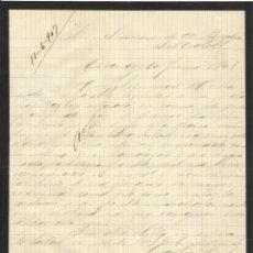 Manuscritos antiguos: GREGORIO MARTÍNEZ. EZCARAY. LA RIOJA. 1907. CARTA A A. BADÍA. SABADELL.. Lote 216976998