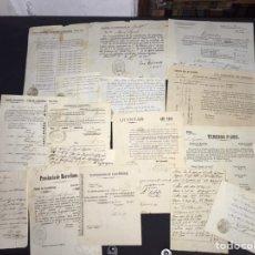 Manuscritos antiguos: CASTELLBISBAL. LOTE DE 30 DOCUMENTOS DEL SIGLO XIX. ALCALDE, QUINTAS.... Lote 217360848