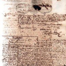 Manuscritos antiguos: CUBA - VENTA DE ESCLAVA - DOCUMENTO NOTARIAL - SANTIAGO DE CUBA 1832. Lote 217465253