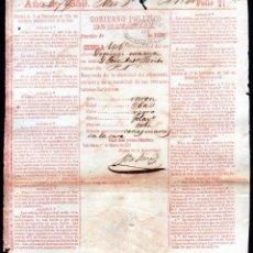 Manuscritos antigos: CEDULA DE IDENTIDAD DE ESCLAVO - CUBA 1859. Lote 217512156