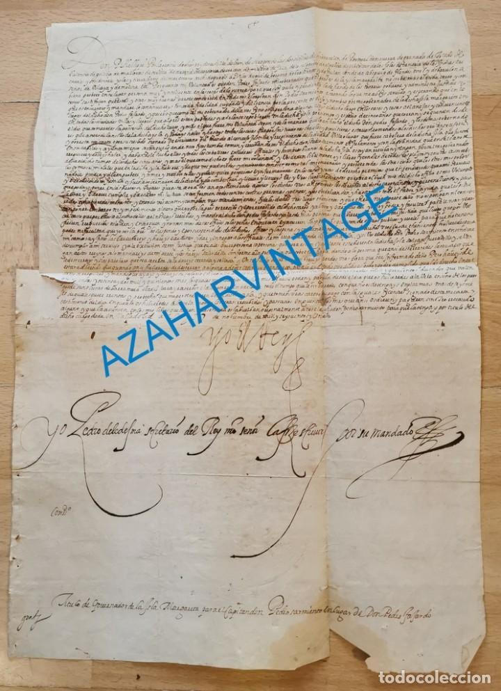 1601, NOMBRAMIENTO GOBERNADOR DE ISLA MARGARITA, FIRMA DE FELIPE III, VER IMAGENES, ESPECTACULAR (Coleccionismo - Documentos - Manuscritos)