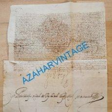 Manuscritos antiguos: 1601, NOMBRAMIENTO GOBERNADOR DE ISLA MARGARITA, FIRMA DE FELIPE III, VER IMAGENES, ESPECTACULAR. Lote 217723118