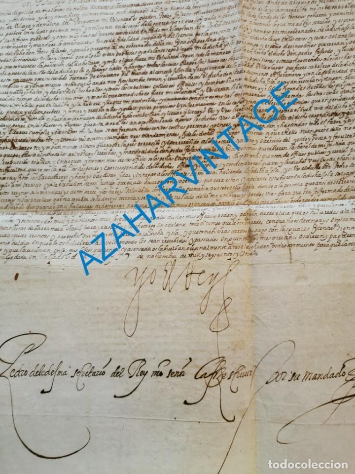 Manuscritos antiguos: 1601, NOMBRAMIENTO GOBERNADOR DE ISLA MARGARITA, FIRMA DE FELIPE III, VER IMAGENES, ESPECTACULAR - Foto 2 - 217723118