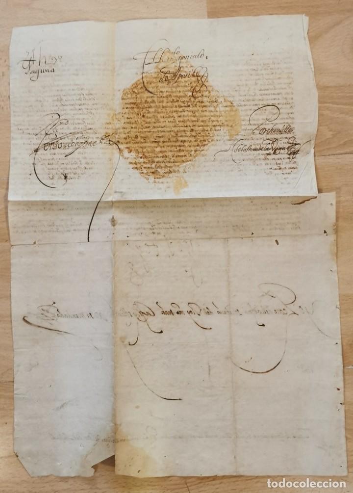 Manuscritos antiguos: 1601, NOMBRAMIENTO GOBERNADOR DE ISLA MARGARITA, FIRMA DE FELIPE III, VER IMAGENES, ESPECTACULAR - Foto 5 - 217723118