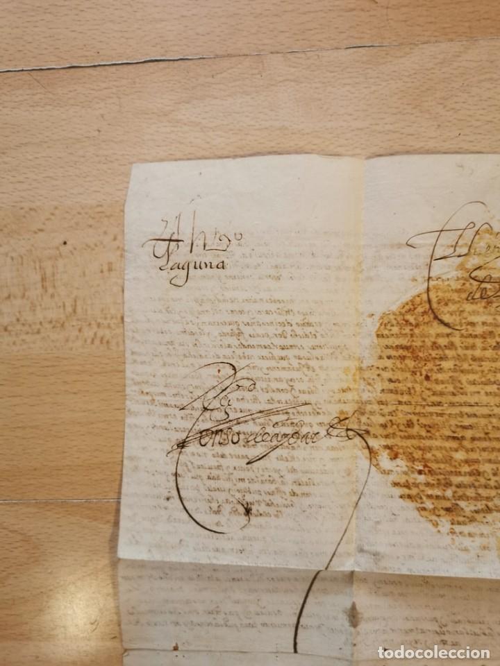 Manuscritos antiguos: 1601, NOMBRAMIENTO GOBERNADOR DE ISLA MARGARITA, FIRMA DE FELIPE III, VER IMAGENES, ESPECTACULAR - Foto 6 - 217723118