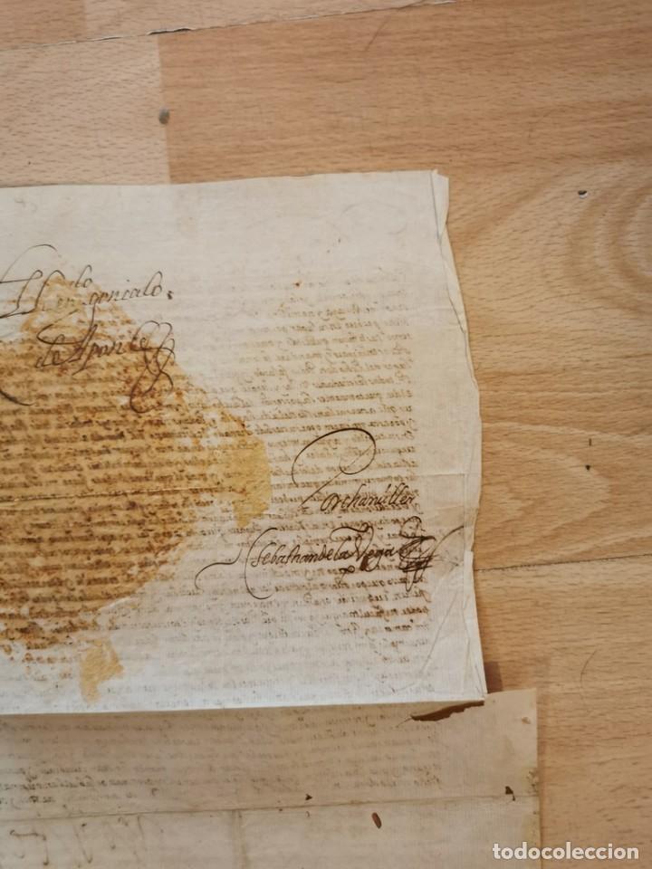 Manuscritos antiguos: 1601, NOMBRAMIENTO GOBERNADOR DE ISLA MARGARITA, FIRMA DE FELIPE III, VER IMAGENES, ESPECTACULAR - Foto 8 - 217723118