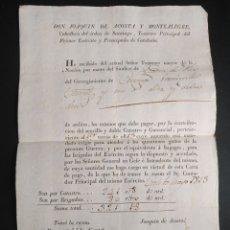 Manuscritos antiguos: CARTA DE PAGO IMPUESTOS DESTINADOS GUERRA INDEPENDENCIA 1813 CATALUÑA CATASTRO. Lote 218022432