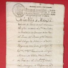 Manuscritos antiguos: CARTA DE PODER A FRANCISCO DE BORJA SOBRE HERENCIA DE Mª ANTONIA GONZAGA 1802. Lote 218366291