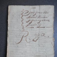 Manuscritos antiguos: INFANZONÍA BARDAXÍ CAPITÁN GENERAL ARAGÓN MANUSCRITO AÑO 1676 - LUJO SELLO LACRE REGENTE. Lote 218376760