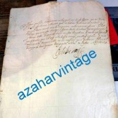 Manuscritos antiguos: 1619, CARTA DE ENMANUEL FILIBERTO DE SABOYA,GENERAL DEL MAR,AL MAESTRE DE CAMPO DE LA INFANTERIA ESP. Lote 218564077
