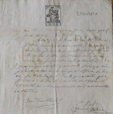 Manuscritos antiguos: CERTIFICADO. PLANES DE LA BARONÍA. ALICANTE. 1914. JOSÉ ELÍAS ALBALAT. VICENTE LLORENS OLTRA.. Lote 218706516