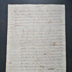 Manuscritos antiguos: MANUSCRITO CUSTODIA CARTA REAL SIGLO XVII DIRIGIDA DUQUE DE MONTELEÓN. SELLADA SIGNADA Y FIRMADA. Lote 218811262