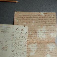 Manuscritos antiguos: GUERRA DE CUBA DOS DOCUMENTOS DESERCIÓN DEL BOMBERO MOVILIZADO AÑO 1897. Lote 219211523