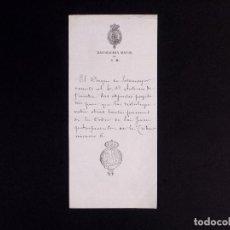 Manuscritos antiguos: NOTA DEL DUQUE DE SOTOMAYOR. Lote 219377262