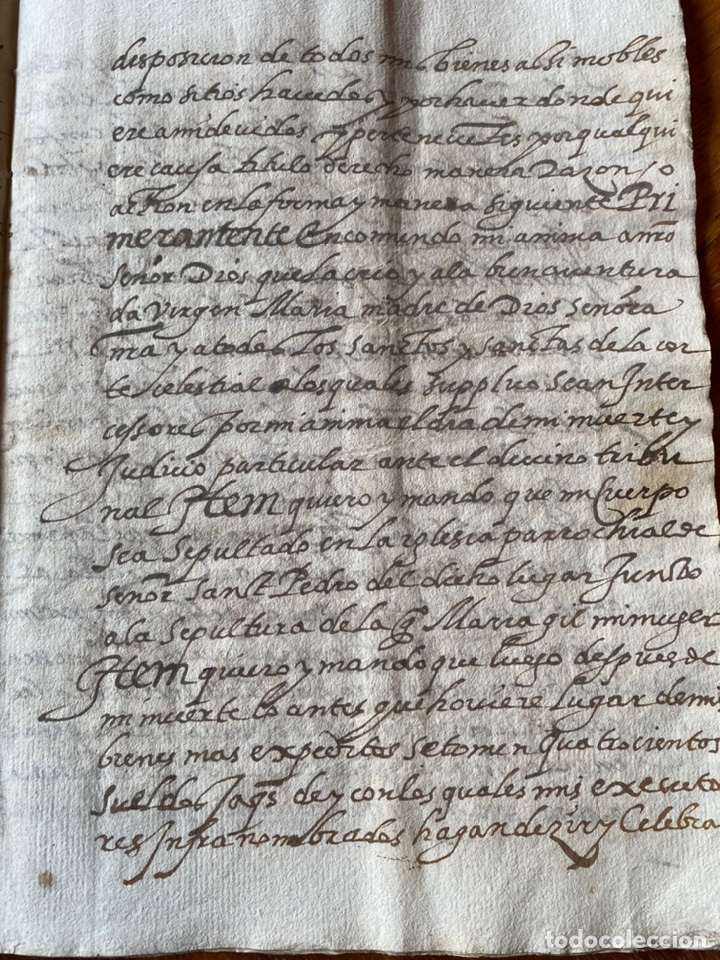 Manuscritos antiguos: TESTAMENTO DEL NOTARIO JAIME CASADO DE ROMANOS 1594. FIRMA NOTARIAL.ALDEA CIUDAD DE DAROCA. - Foto 5 - 219413902