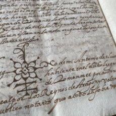 Manuscritos antiguos: TESTAMENTO DEL NOTARIO JAIME CASADO DE ROMANOS 1594. FIRMA NOTARIAL.ALDEA CIUDAD DE DAROCA.. Lote 219413902