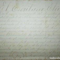 Manuscritos antiguos: ESCRITURA DE HIPOTECA DEL INGENIO AZUCARERO S. NICOLÁS TOLENTINO EN IZÚCAR, PUEBLA, MÉXICO. 1892.. Lote 219476400
