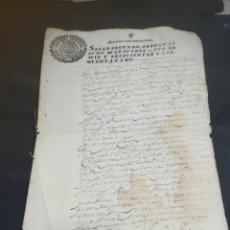 Manuscritos antiguos: TIMBROLOGIA. SELLO SEGUNDO. 68 MARAVEDIS. 1651. MANUSCRITO. VER FOTOS. Lote 219482850