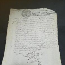 Manuscritos antiguos: TIMBROLOGIA. SELLO QUARTO. 10 MARAVEDIS. 1665. MANUSCRITO. VER FOTOS. Lote 219495138