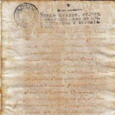 Manuscritos antiguos: 1772 MURVIEDRO SAGUNTO CLERO IGLESIA SANTA MARIA SELLO FISCAL 4º 20 MRS DOCUMENTO MANUSCRITO. Lote 219549327