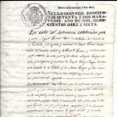 Manuscritos antiguos: TIMBRE DE SELLO, AÑO 1817 272 MARAVEDIES SELLO 2º. Lote 219623955