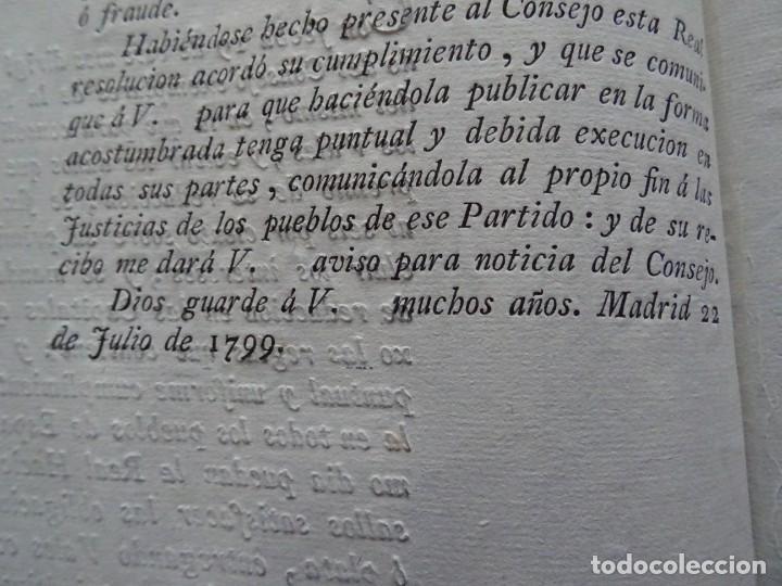 Manuscritos antiguos: Impreso 1799, Vales reales premio de reducción - Foto 2 - 219725560