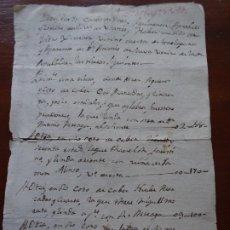 Manuscritos antiguos: AGRIMENSURA TIERRAS EN TORRELAGUNA, MADRID, 1782. Lote 219726422