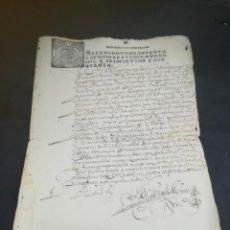 Manuscritos antiguos: TIMBROLOGIA. SELLO SEGUNDO. 68 MARAVEDIS. 1650. MANUSCRITO. VER FOTOS. Lote 219811350