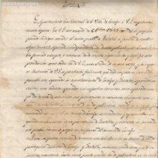 Manuscritos antiguos: QUERALBS SEPARACIÓ AJUNTAMENT DE FUSTANYÀ VILLA DE CARALPS 1856 LÍMITS TERMES RIBES DE FRESSER. Lote 219846360