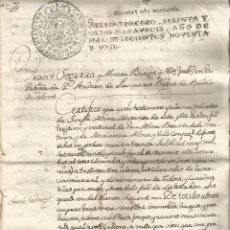 Manuscritos antiguos: SANT ANDREU DE LLAVANERES TESTAMENT I FIRMA NOTARIAL 1791 1735. Lote 219879705