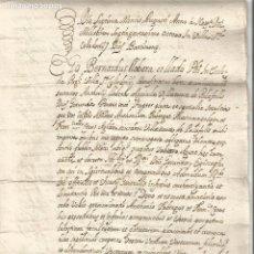 Manuscritos antiguos: SANT CELONI PALAFOLLS 1771 SIGNATURA NOTARIAL I SEGELL ACTE PER LA TOMBA O VAS D'ENTERRAR. Lote 219887728