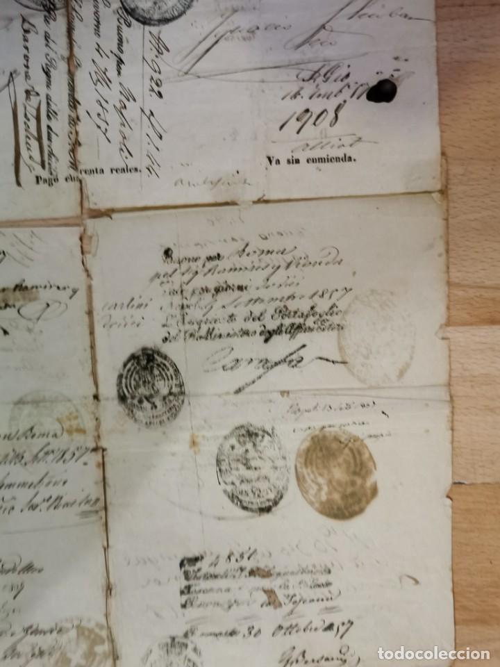 Manuscritos antiguos: MADRID, 1857, ESPECTACULAR PASAPORTE FIRMADO POR CARLOS MARFORI, GOBERNADOR, AMANTE DE ISABEL II - Foto 4 - 219963495