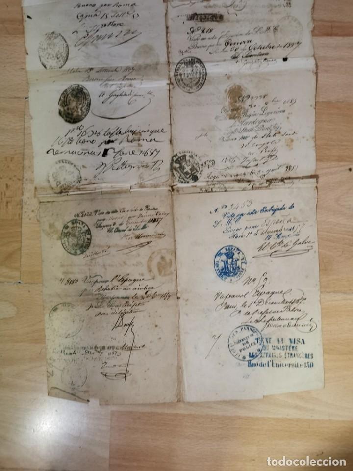 Manuscritos antiguos: MADRID, 1857, ESPECTACULAR PASAPORTE FIRMADO POR CARLOS MARFORI, GOBERNADOR, AMANTE DE ISABEL II - Foto 7 - 219963495
