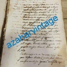 Manuscritos antiguos: 1605, CARTA FIRMADA POR ESTEBAN DE IBARRA EMPARAN , SECRETARIO CONSEJO DE GUERRA DE FELIPE III. Lote 220315110