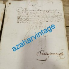 Manuscritos antiguos: 1605, CARTA DE FELIPE III A SU MAESTRE DE CAMPO DON PEDRO SARMIENTO, FIRMA REAL. Lote 220315222