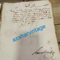 Manuscritos antiguos: 1614, CARTA DE FELIPE III A A SU MAESTRE DE CAMPO DEL TERCIO DE NAPOLES, FIRMA REAL. Lote 220345867