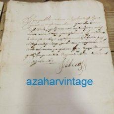 Manuscritos antiguos: 1619, CARTA DE ENMANUEL FILIBERTO DE SABOYA,GENERAL DEL MAR,AL MAESTRE DE CAMPO DE LA INFANTERIA ESP. Lote 220346270