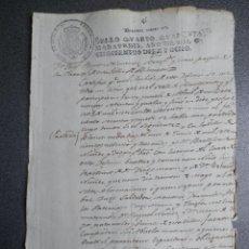 Manoscritti antichi: MANUSCRITO AÑO 1818 BLANCA MURCIA CERTIFICADO DE BAUTISMO FISCAL 4º. Lote 220758526