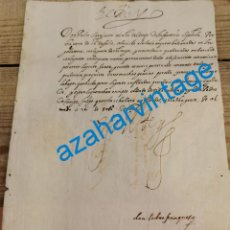 Manuscritos antiguos: 1605, CARTA DE FELIPE III, DANDO LAS GRACIAS, A SU MAESTRE DE CAMPO DON PEDRO SARMIENTO, FIRMA REAL. Lote 220969441